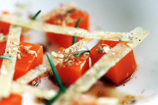Carrot, coriander and parmesan